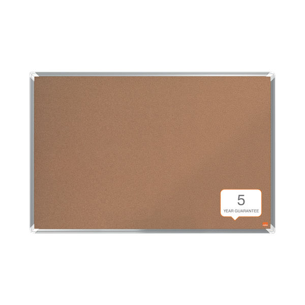 Nobo Premium Plus Cork Notice Board 900 x 600mm 1915180