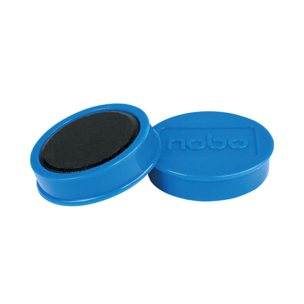Nobo Whiteboard Magnets 38mm Blue (Pack of 10) 1915313