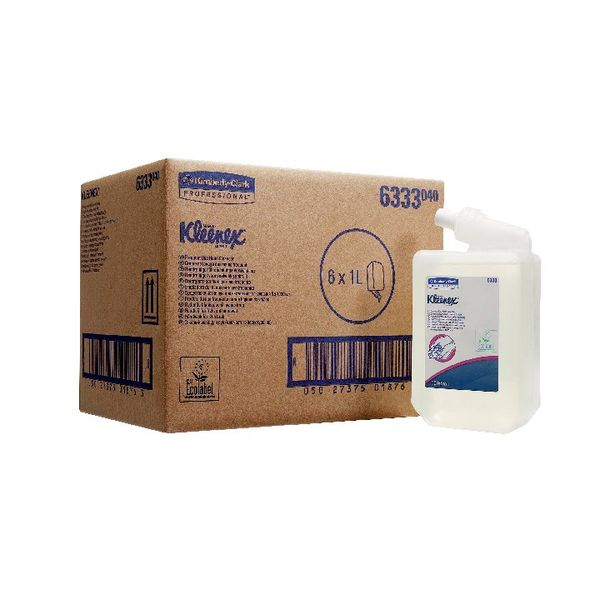 Kleenex 1 Litre Everyday Use Perfumed Hand Cleanser, Pack of 6 - 6331