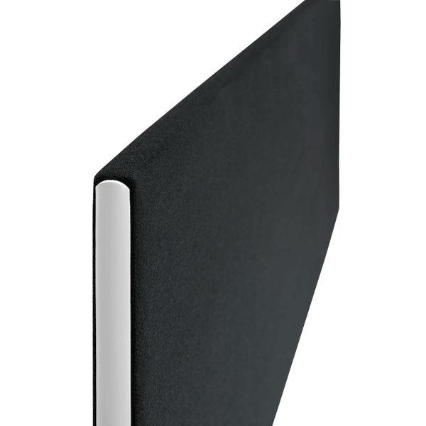 Jemini 1200mm Black Straight Mounted Desk Screen