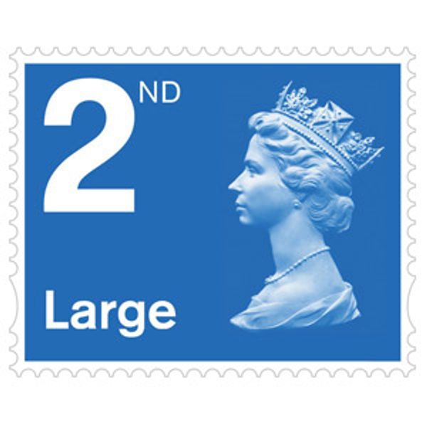 Royal Mail 2nd Class Large Stamps x 4 Pack   (Postage Stamp Book)