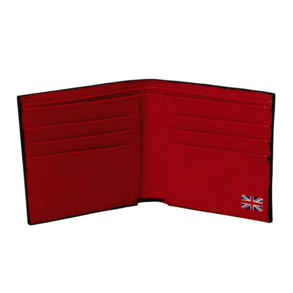Post Box Design Black Leather Wallet - NJ002