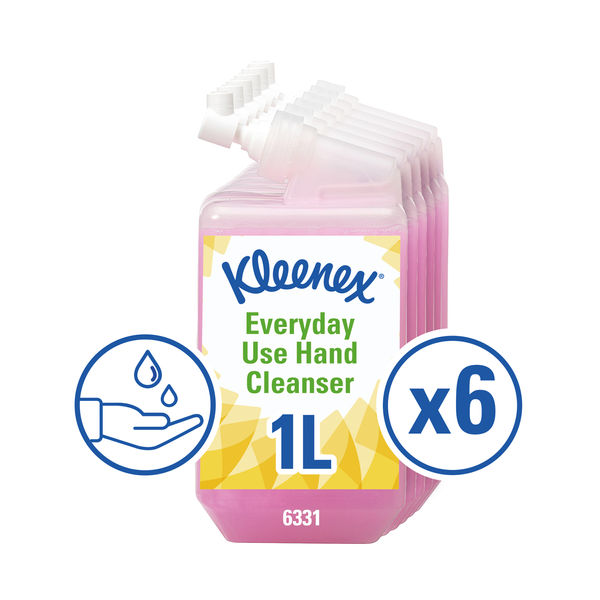Kleenex 1 Litre Everyday Use Hand Soap Refills, Pack of 6 - 6331