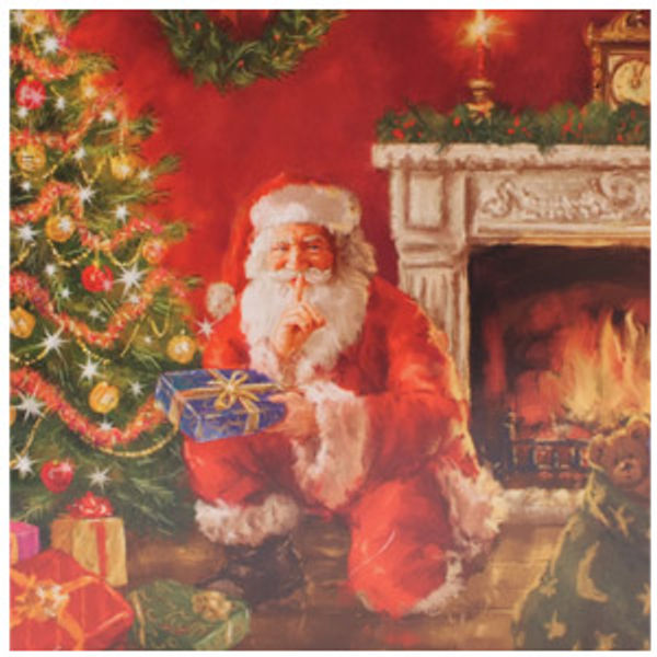 Santa Christmas Cards Two Designs - Pack of 10