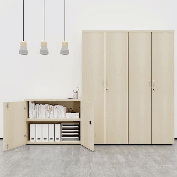 First 1600mm White Wooden Storage Cupboard
