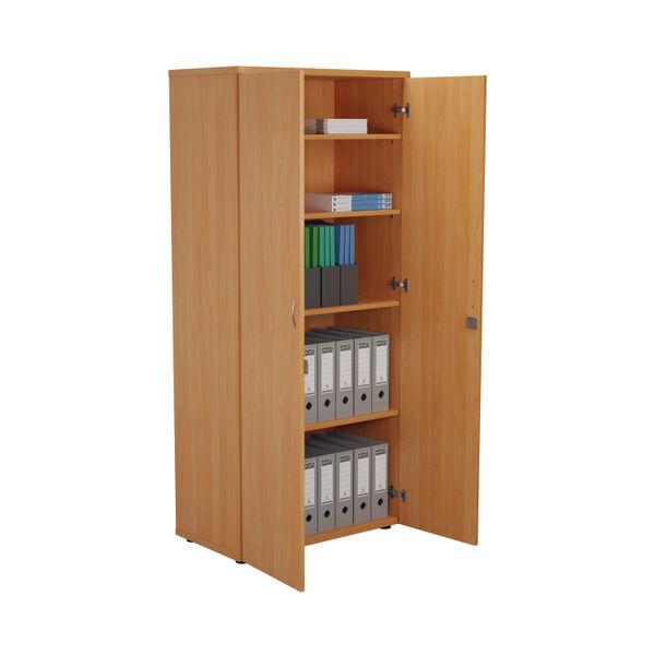 First 1800mm Beech Wooden Storage Cupboard