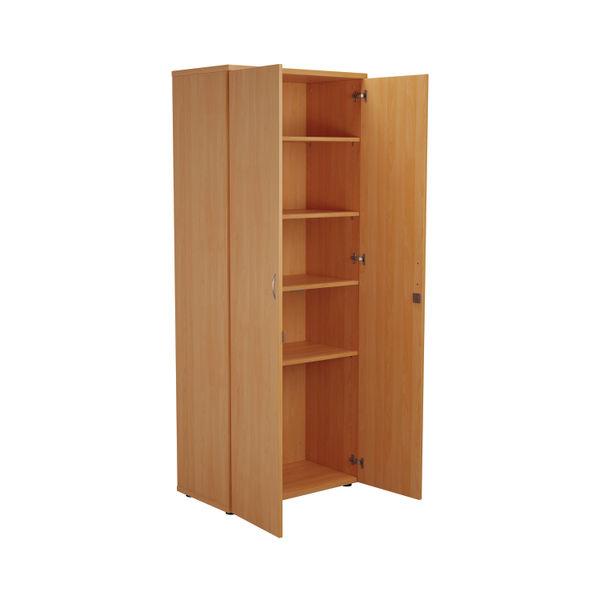 First 2000mm Beech Wooden Storage Cupboard