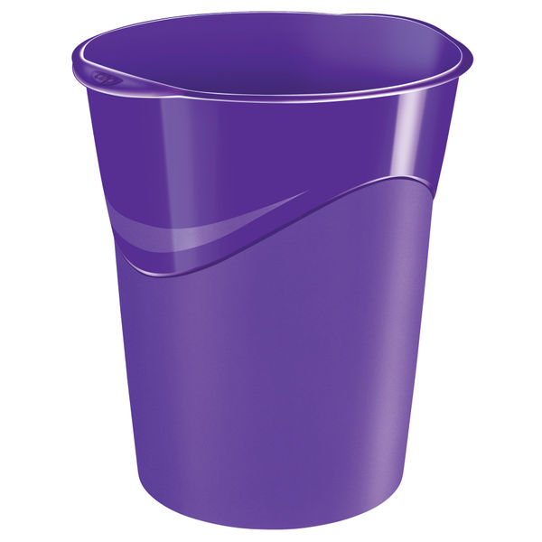 CEP Pro Gloss 14-Litre Purple Waste Bin | 280G PURPLE