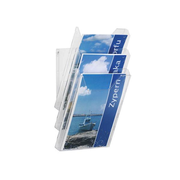 Durable Combiboxx Portrait Literature Holder, Transparent 3 X A4 8580/19