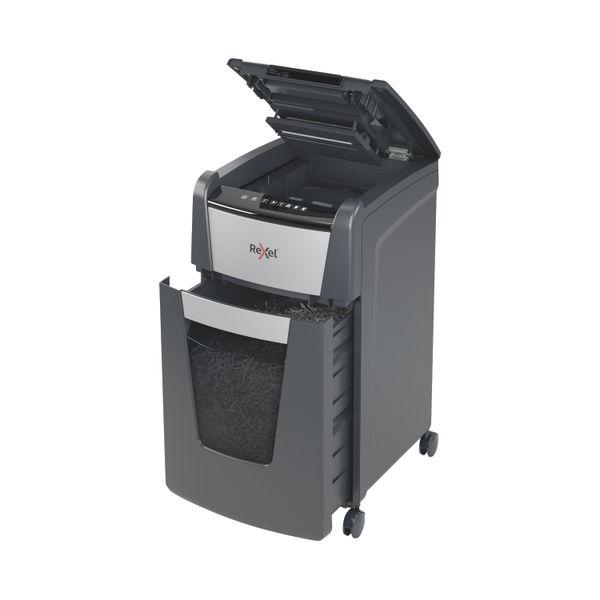 Rexel Optimum AutoFeed+ 225M Micro-Cut P-5 Shredder Black 2020225M