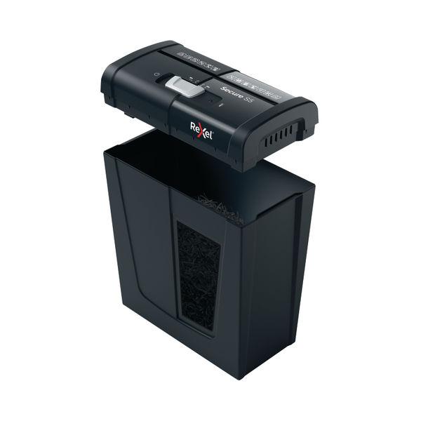 Rexel Secure S5 Strip-Cut P-2 Shredder Black 2020121