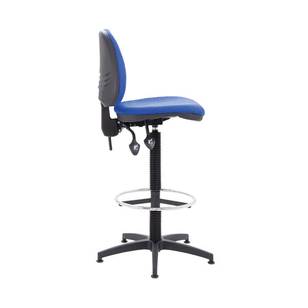Arista Blue Fixed Foot Rest Draughtsman Chair