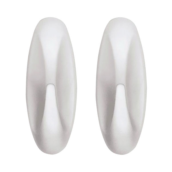 3M Command White Small Adhesive Hooks, Pack of 2 - 17082