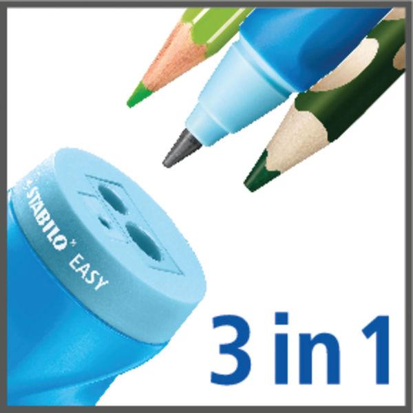 Stabilo Easysharpener Left Handed Pencil Sharpener Moulded Grip Closable Lid Blue 4501