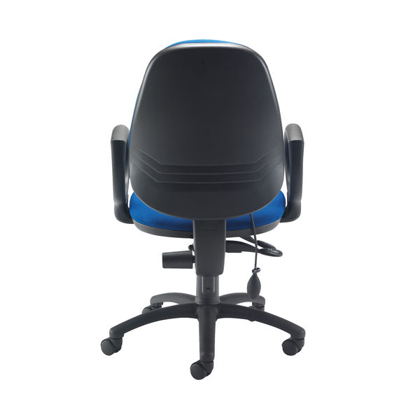Jemini Intro High Back Posture Chair Fixed Arms in Royal Blue