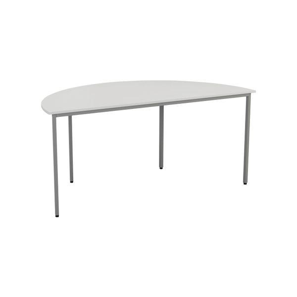 Jemini 1600mm White Semi Circular Table