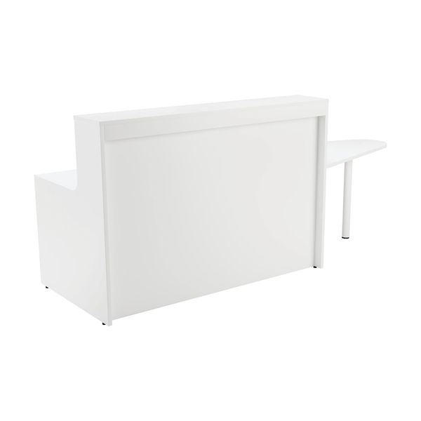 Jemini 1600mm White Reception Unit and Extension