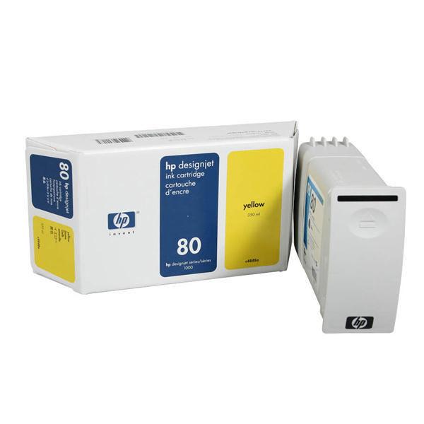 HP 80 Yellow High Yield Ink Cartridge | C4848A
