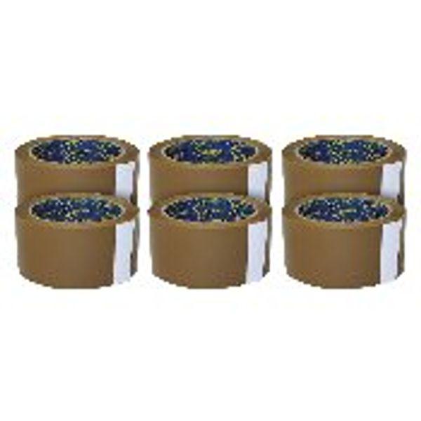 Sellotape Buff Case Sealing Tape, 50mm x 66m - Pack of 6 Rolls - SE0246