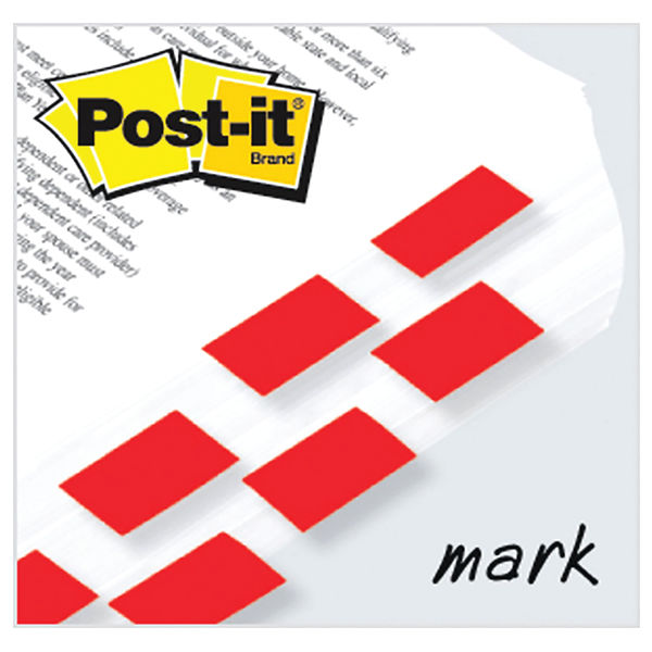 Post-it Index Tabs 25mm Red (Pack of 600) 680-1