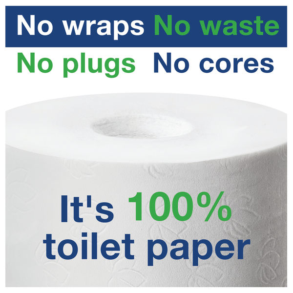 Tork Coreless Toilet Roll 1-Ply 1300 Sheets (Pack of 36) 502080
