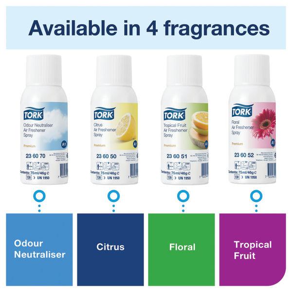 Tork Air Freshener Spray Refill A1 Citrus 75ml (Pack of 12) 236050