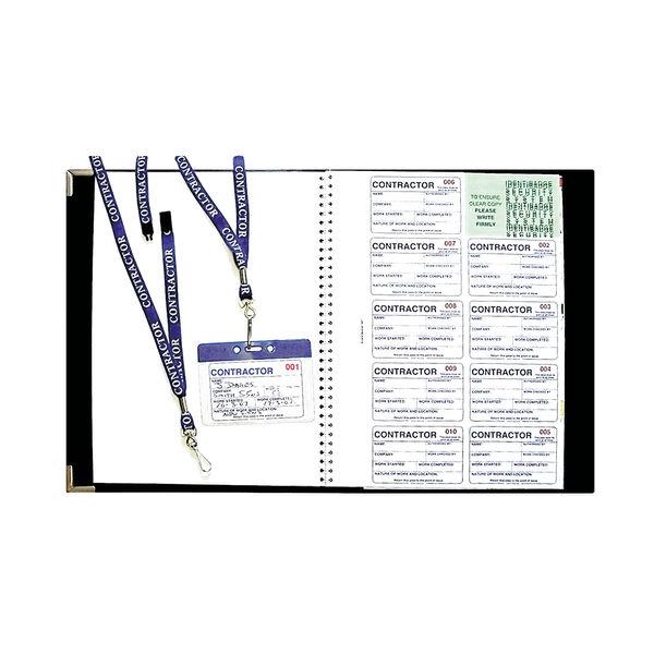 Identibadge Contractor Book Set with Lanyards IBSSC5