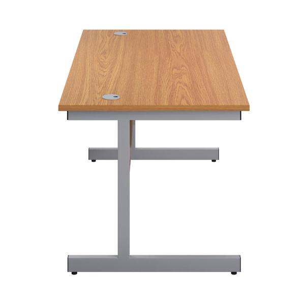 First 1800mm Nova Oak/Silver Single Rectangular Desk