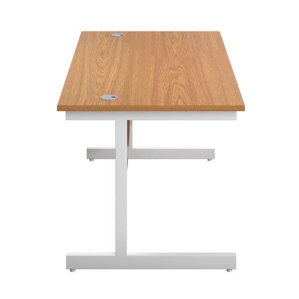 First 1800mm Nova Oak/White Single Rectangular Desk