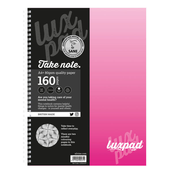 Silvine Assorted A4+ Luxpad Sane Charity Notebooks, Pack of 6 - LUXA4CP