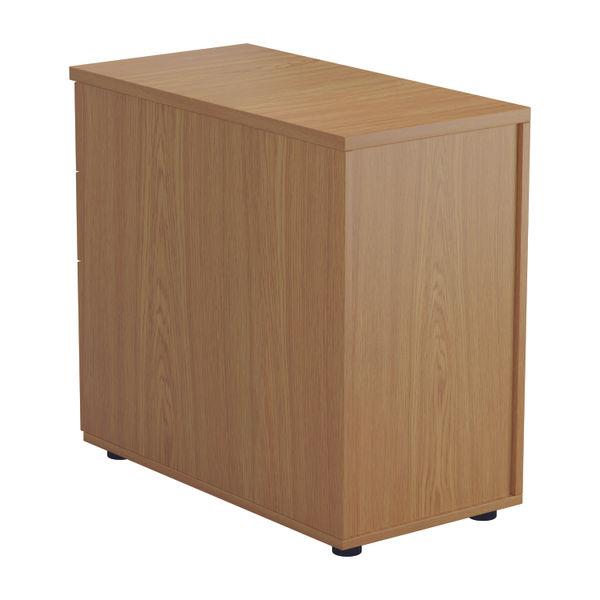 Jemini D800mm Nova Oak 3 Drawer Desk High Pedestal