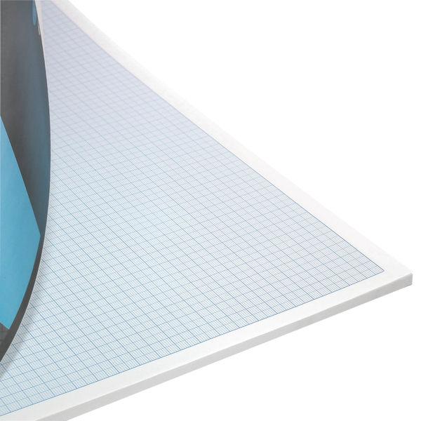Silvine Graph Pad 1/5/10mm 50 Sheets A3 A3GP1510