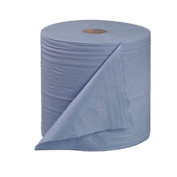 2Work 2-Ply Forecourt Roll 400m Blue (Pack of 2) CT34137
