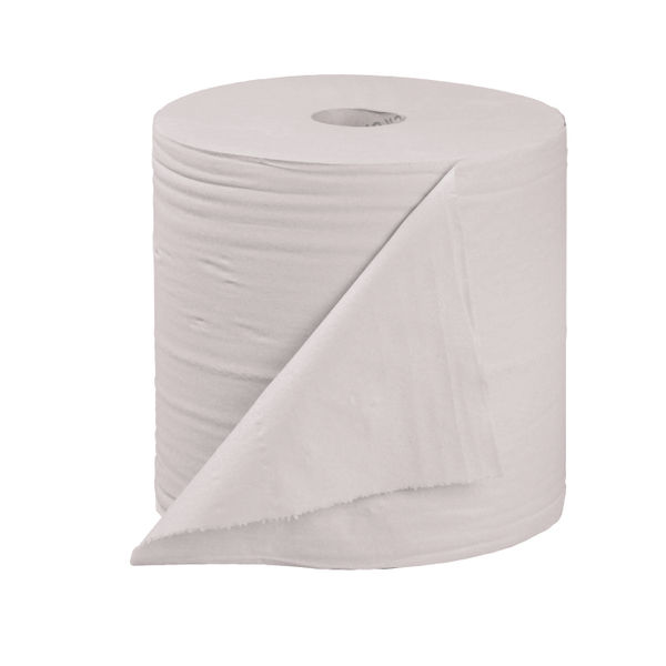 2Work White 2-Ply Centrefeed Rolls, Pack of 6 - KF03804