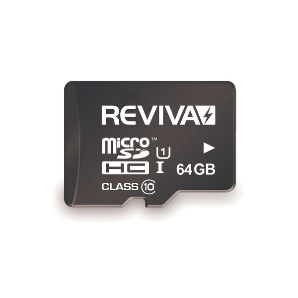 Reviva 64GB MicroSDXC Card and Adapter - KO01038