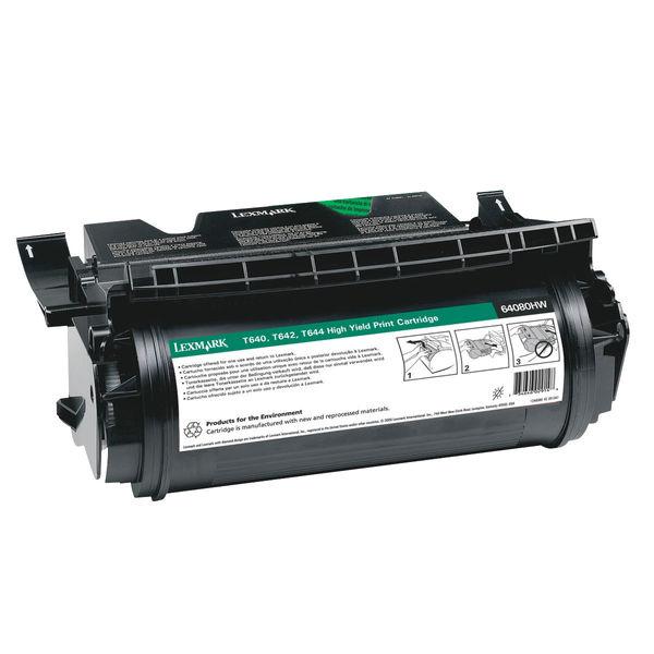 Lexmark Reconditioned Black Toner Cartridge Tesco 64080HW