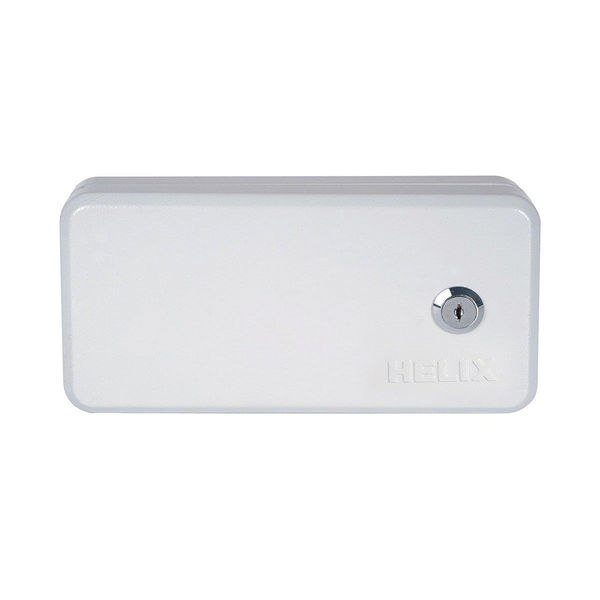 Helix Standard Grey Steel Key Safe - 190 x 25 x 50mm  - 5202010