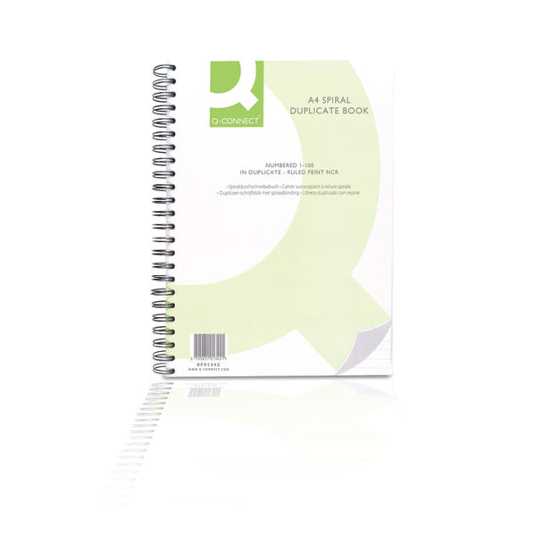 Q-Connect A4 Spiral Bound Carbonless Duplicate Book - KF01342
