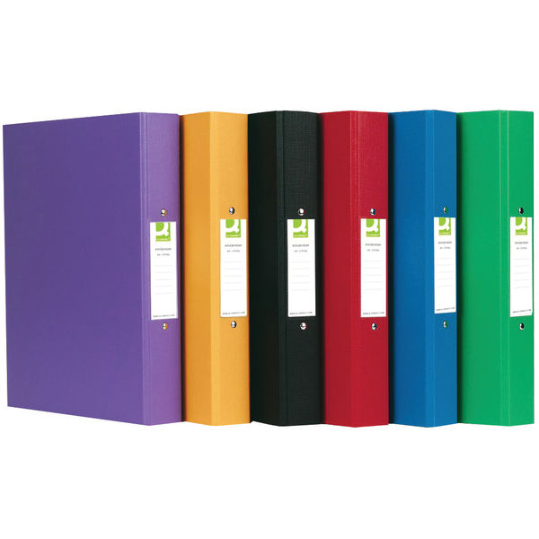 Q-Connect Assorted A4 25mm 2 Ring Polypropylene Binder, Pack of 10 - KF71446