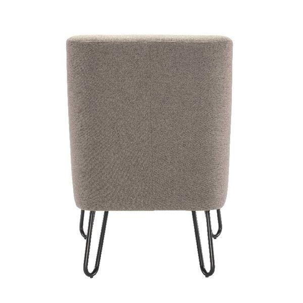 Jemini Grey Reception Armchair