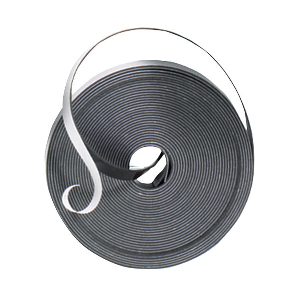 Nobo Magnetic Self-Adhesive Tape 10mmx10m Black 1901053