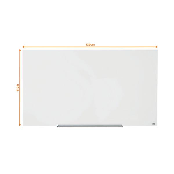 Nobo Diamond Glass Magnetic Whiteboard, 1260 x 711mm - 1905177