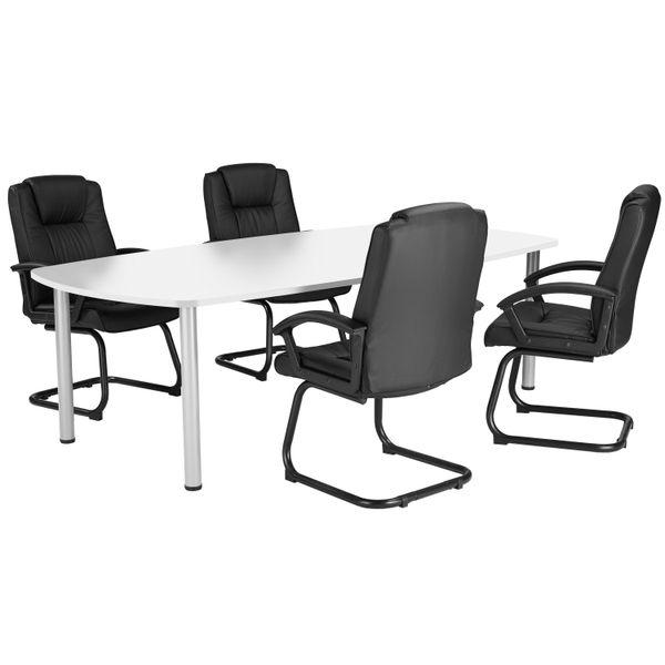 Jemini 1800mm White Boardroom Table