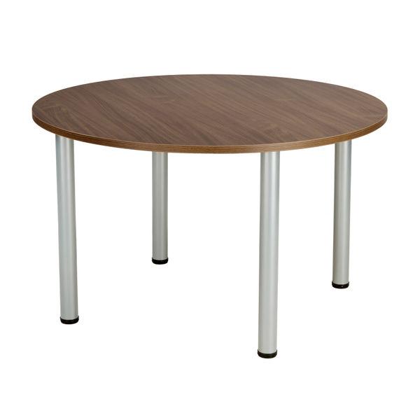 Jemini 1200mm Walnut Circular Meeting Table