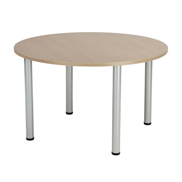Jemini 1200mm Grey Oak Circular Meeting Table