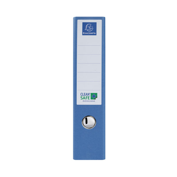 Exacompta Clean Safe Lever Arch File 70mm Blue (Pack of 10) 53222E
