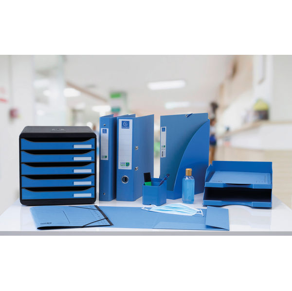 Exacompta A4 Blue Clean Safe 12-Part File - 57122E