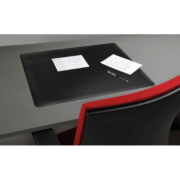 Durable Black 530 x 400mm Contoured Edge Desk Mat - 710201
