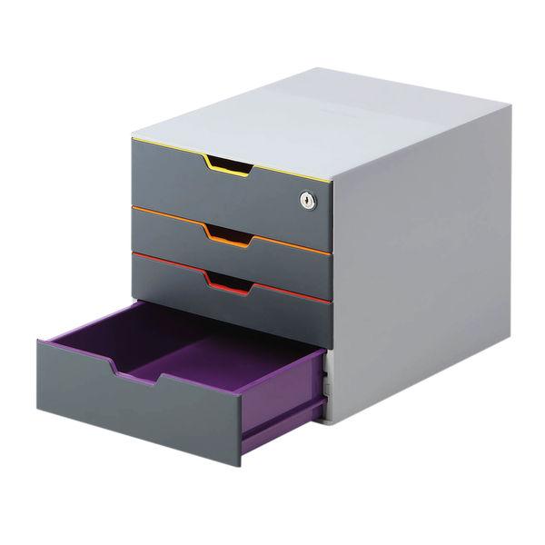 Durable Varicolor Safe 4 Drawer Box 760627