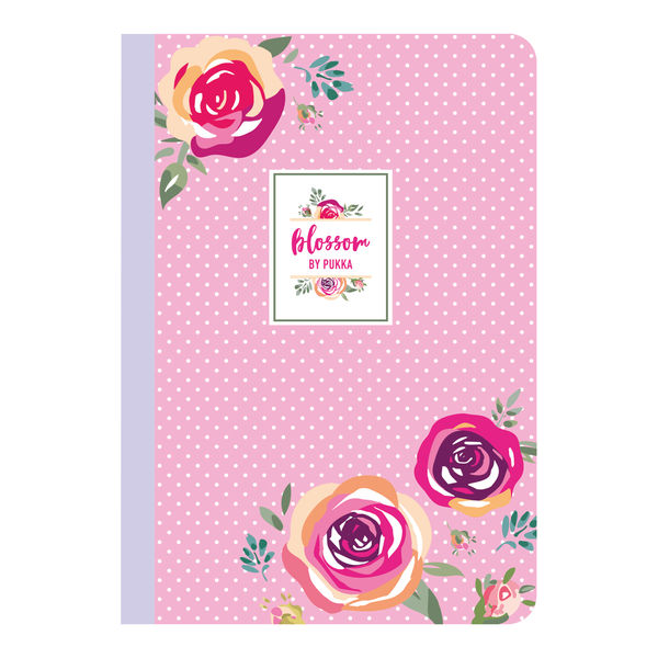 Pukka Pad Blossom A5 Stitched Exercise Notebooks, Pack of 3 - 8652-BLO